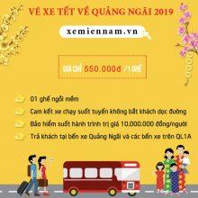 Vé xe Sài Gòn Quảng Ngãi tết nguyên đán 2019