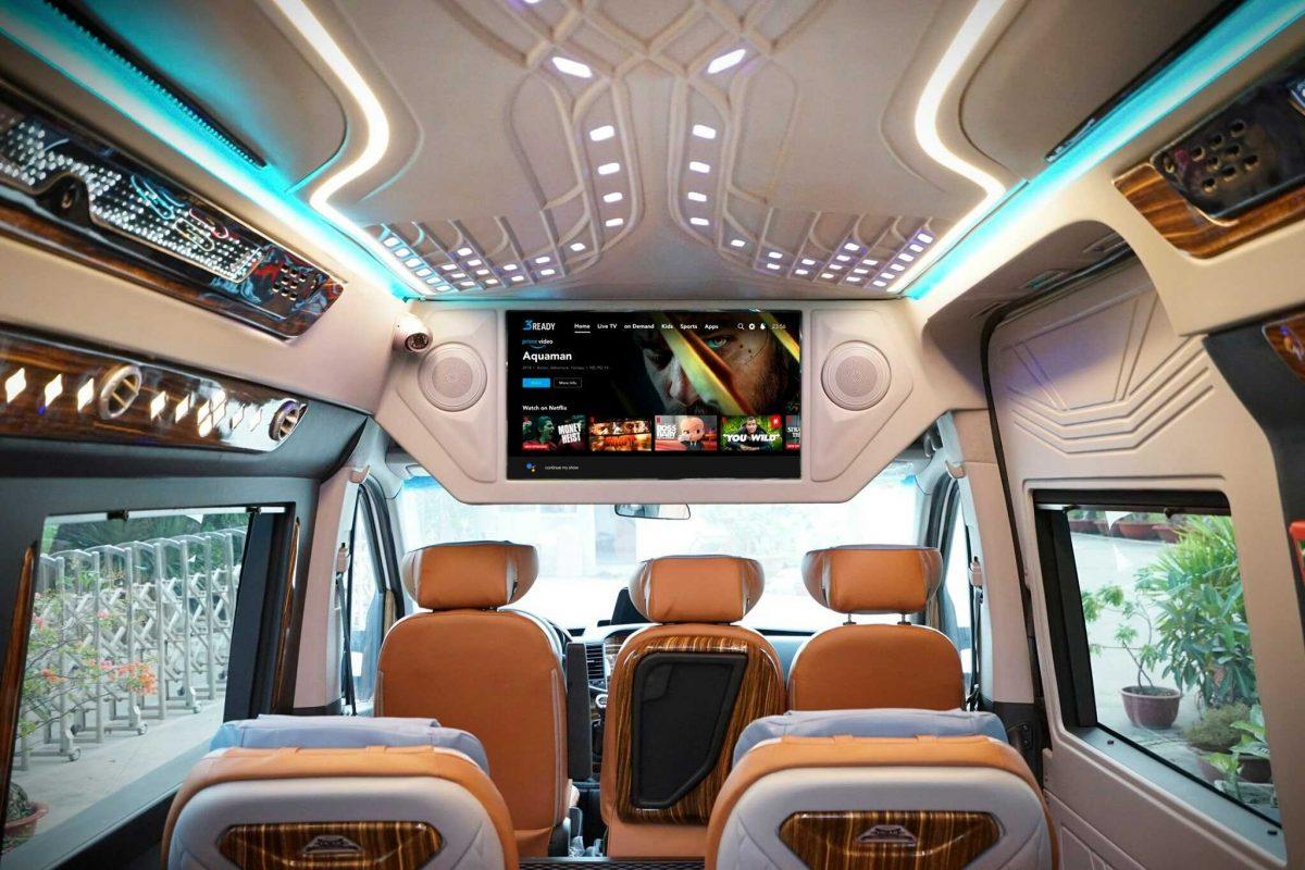 nội thất xe limousine 16 chỗ