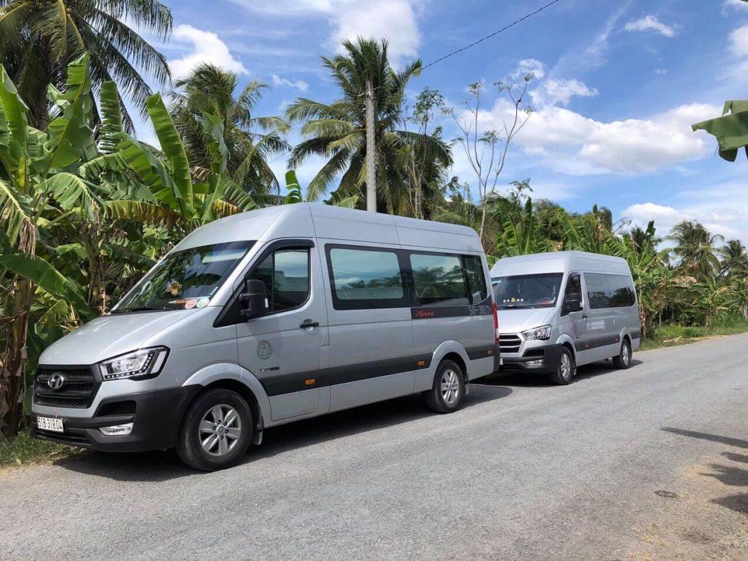 thuê xe 16 chỗ từ TPHCM đi Châu Đốc