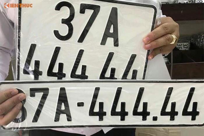 Ý nghĩa biển số xe tứ quý 4444