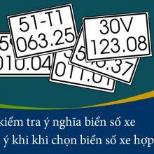 Dịch ý nghĩa biển số xe máy, ô tô phong thuỷ ở Việt Nam