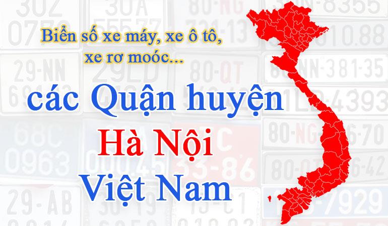 Biển số xe các quận huyện của Hà Nội