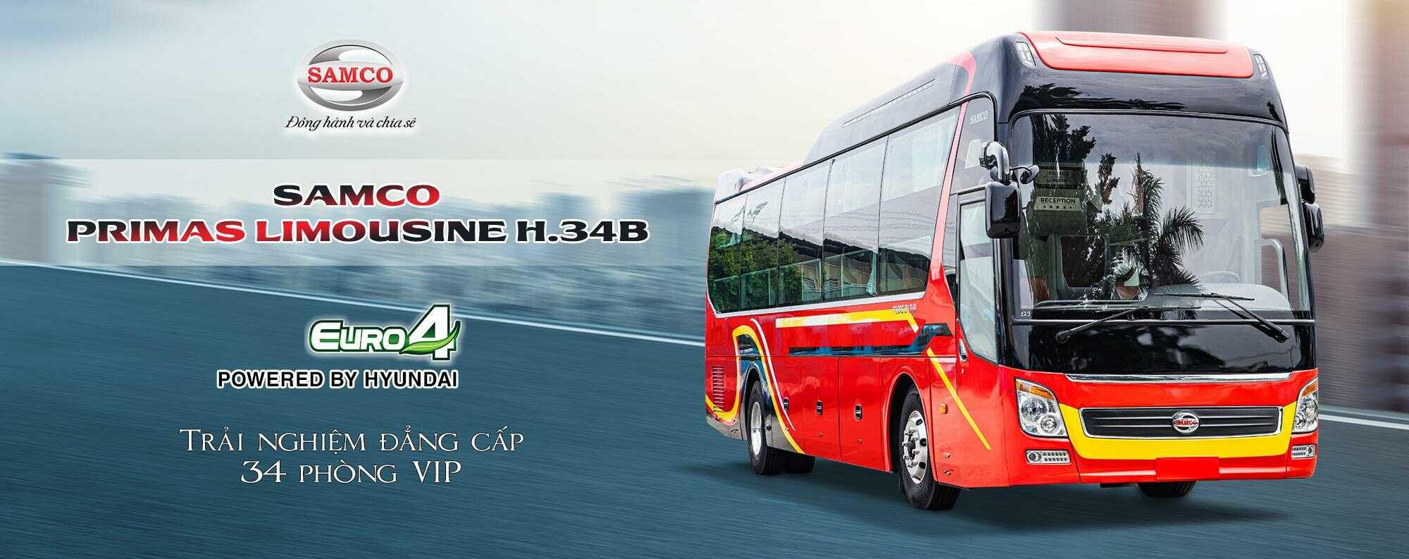Giá xe giường nằm Samco Primas Limousine 34GV