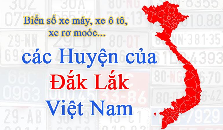 biển số xe các tỉnh đắk lắk