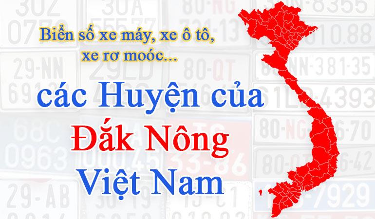 biển số xe các tỉnh đắk nông